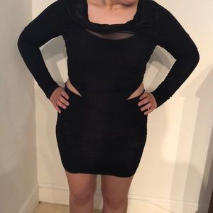 Black stretchy dress with cut out sides size 4